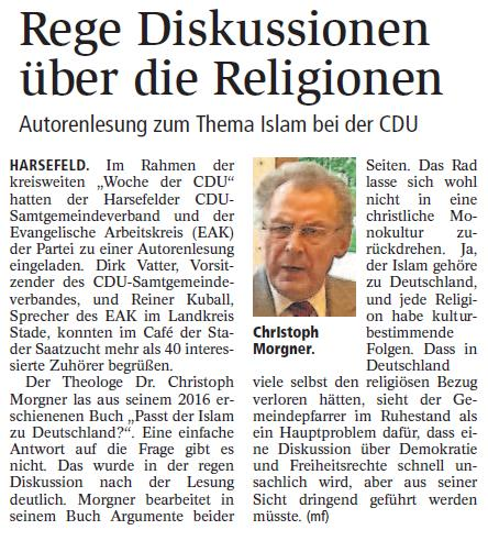 Rege Diskussionen über die Religionen