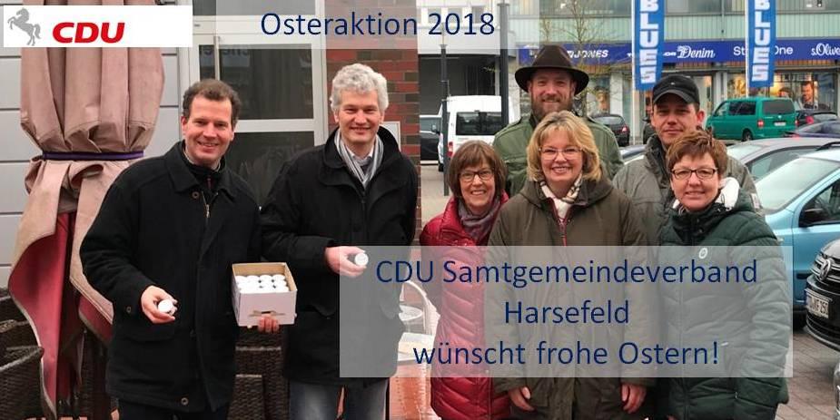 Die CDU im Samtgemeindeverband Harsefeld wünscht frohe Ostern.